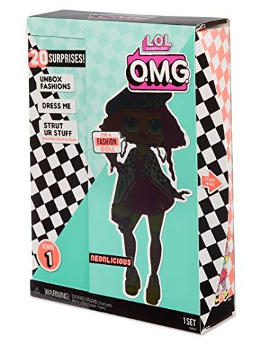 Image 10 - MGA- Poupée-Mannequin L.O.L O.M.G. Neonlicious avec 20 Surprises Toy, 560579, Multicolore