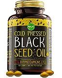 MAJU's Black Seed Oil Capsules - Cold Pressed, 3X% Thymoquinone, 100% Turkish Black Cumin Nigella Sativa Seed Oil, Organic BSO, Non-GMO, 100% Liquid Pure Blackseed Oil