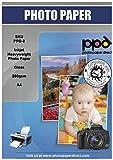 PPD Inkjet 260 g/m2 Super Premium Fotopapier Glänzend Für Hochauflösende, Sofort Trocknende Drucke Und Brilliante Farbwiedergabe, DIN A4 x 50 Blatt PPD008-50