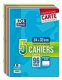 Oxford Color Life Cuadernos con grapas,  24 x 32 cm, colores surditos, pack of 5