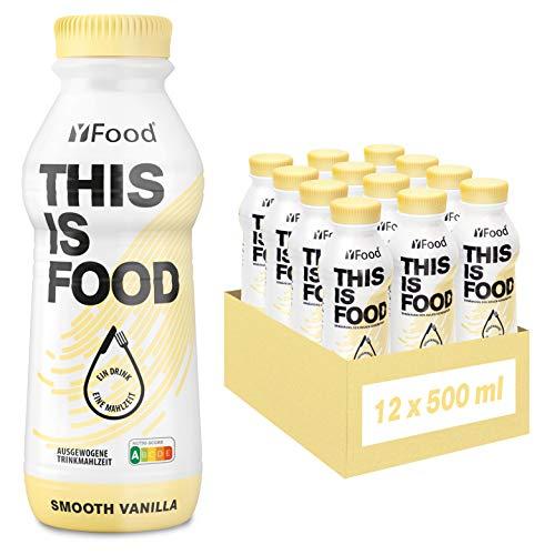 YFood Astronautennahrung Vanille | Laktose- und glutenfreier Nahrungsersatz | 34g Protein, 26 Vitamine & Mineralstoffe | 25% des Kalorienbedarfs | Trinkmahlzeit, 12 x 500 ml (1 kcal/ml)