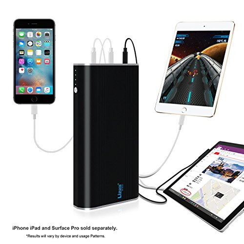 Lizone QC 35000mAh 5-Ports Portable Charger External Battery...