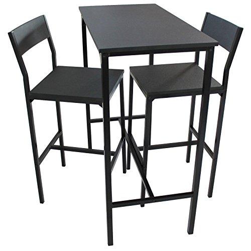 YELLOO Set Tavolo Bar e 2 SGABELLI Arredamento MOBILI Cucina H.96cm Set LIGNANO