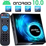 pendoo Android 10.0 TV Box, T95 Android TV Box 4GB RAM 32GB ROM Allwinner H616 Quad-core 64bit, Support 2.4GHz WiFi 6K/4K Ultra HD/ 3D/ H.265 Android Box