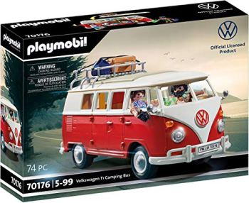 Playmobil 70176 Volkswagen T1 Camping Bus, for Children Ages 5+