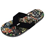 Bioworld Men's Star Wars Retro Comic Thong Slippers, Medium (8/9), Black