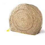 """Texas Haynet - Heavy Gauge Round Bale Hay Net - Thick Net Slow Feeder for Horses - Nylon Net (Made Twice as Thick) - Easily Fits Bales [4x4-6x6]"""" or [3x3x8-4x4x8] 2.25"""" Holes"""