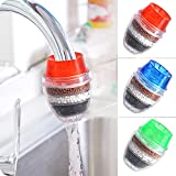 3 Pack Faucet Mount Filters,Faucet Water Filter Purifier Kitchen Tap Filtration Activated Carbon Removes Chlorine Fluoride Heavy Metals Hard Water for Home Kitchen Bathroom