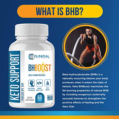 Clinical Effects: Keto Support BHBoost - Dietary Supplement for Keto Weight Support - 60 Capsules 4