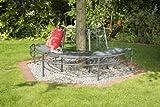greemotion Baumbank Toulouse aus Metall – Gartenbank halbrund – Parkbank für den Garten – Baum-Rundbank wetterfest – Bank rund für Baumstamm - 2