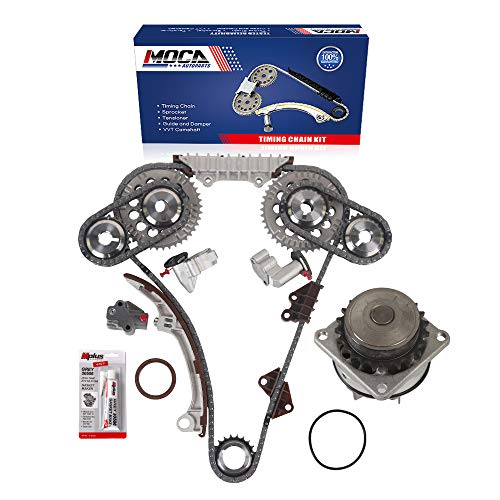 MOCA Timing Chain Kit with Water Pump for 1995-2001 for NISSAN Maxima & 1996-2001 Infiniti I30 3.0L V6 Gas SOHC - Eng. Code VQ30DE
