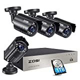 ZOSI 1080P Security Camera System with 1TB Hard Drive H.265+ 8CH 5MP Lite HD-TVI Video DVR Recorder...