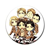 Bowinr Attack on Titan Brooch, Japanese Anime Super Kawaii Brooches & Pins for Clothes, Bags, Caps and Pencil Cases( Style 17)