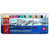Caran d ́Ache Gouache comprimés 15 couleurs
