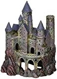 Penn-Plax Wizard's Castle Aquarium Decoration Hand Painted with Realistic Details Over 10 Inches High