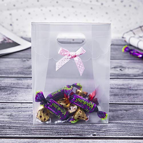 ONE MORE Plastic Treat Gift Bags with Handle Included of...