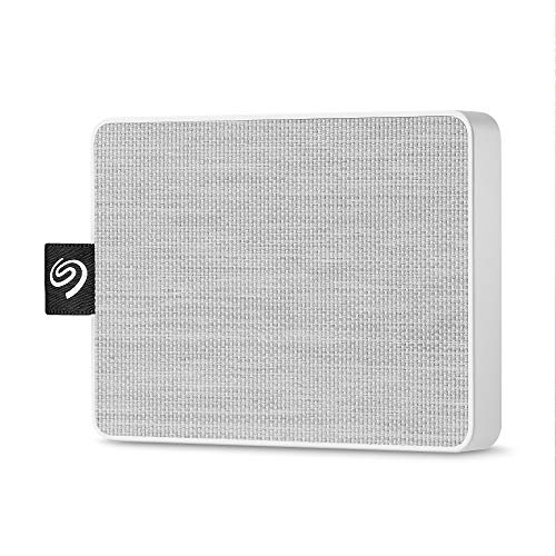 Seagate One Touch SSD 500GB External Solid State Drive Portable  White, USB 3.0 for PC Laptop and Mac, 1yr Mylio Create, 2 Months Adobe CC Photography (STJE500402)