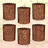 6 x 5 oz Easter Bread parchment baking paper Molds 'Italy'