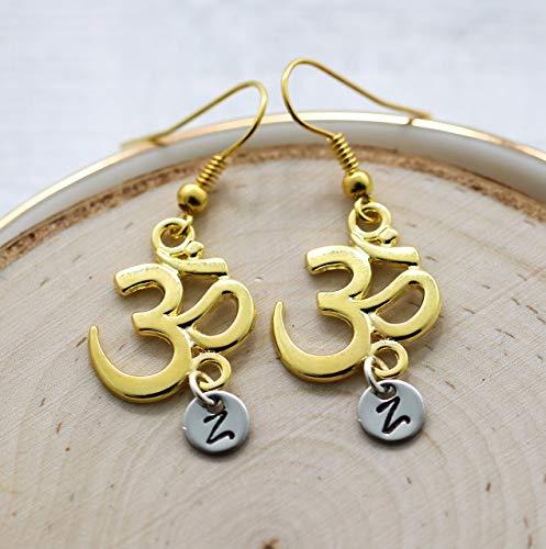 Namaste Earrings for Women - Yoga Themed Gifts for Yoga...