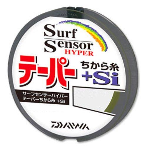 ダイワ(Daiwa) ハリス サーフセンサー ハイパーテーパー ちから糸+Si PE 12m×3本 0.6-6号 イエロー+ステルスゴールド
