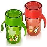 Philips Avent Tasse pour bébé tout usage Rouge/vert 260 ml - Modèle aléatoire