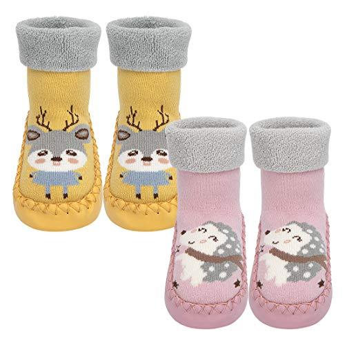 Wisoven calzini antiscivolo per neonati, caldo cotone spesso, graziosi calzini sportivi per ragazzi...