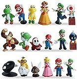 Miotlsy Super Mario Figures 18pcs / Set Super Mario Toys Figuras de Mario y Luigi Figuras de acción...