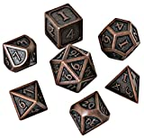 DND Dice Set - Metal Polyhedral Dungeons and Dragons Dice Sets with Dice Bag for RPG Gaming Including D20 - Blacksmith Craft Dice