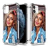 SHUMEI Coque personnalisée pour Apple iPhone 11 6,1Pouce Photo cadeau personnalisée Absorption des chocs Coque en TPU souple transparent DIY HD Image