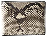 Etabeta Artigiano Toscano - Cartera de hombre sin monedero de auténtica piel de pión roca certificada CITES - Fabricada en Italia, Roca 2bis (Gris) - Roccia 2bis