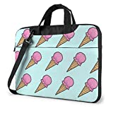 Estuche para computadora portátil Bolsa para computadora Funda para Manga Pink Ice Cream Maletín de Hombro Impermeable 13 14 15.6 Pulgadas