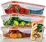 Bento Lunch Box 3pcs set 24oz...