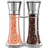 Willow & Everett Stainless Steel Salt and Pepper Grinder Set -Tall...