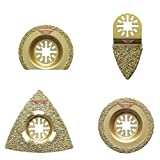 4 x TopsTools UNK4CRM Lames diamantées pour pour Bosch Fein (Pas StarLock)...