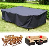 HIRALIY 118 Inch Patio Furniture Cover for Outdoor Snow Protection Waterproof Patio Table Chair Cover Rectangular Sun Resistant Durable Sectional Sofa Protective Cover 118' L x 57.8' W x 27.5' H