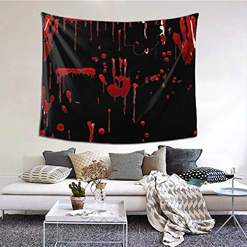 Tapestry Blood Drip Red Paint Splash Halloween Wall Art Hanging for Living Room Dorm Bedroom Party Home Decor 60 X 50in
