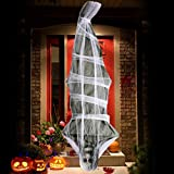 UFUNGA 72 inch Cocoon Corpse Decoration - Halloween Decorations Hanging Ghost - Scary Home Decor for Yard Outdoor Indoor Party Haunted House