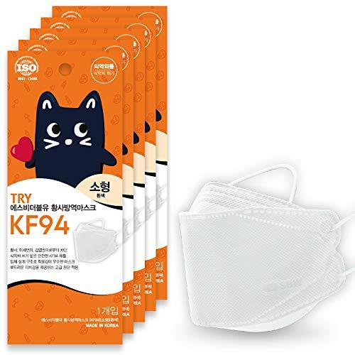 子ども用 TRYマスク KF94 猫パッケージ 4層構造 正規品 男女兼用 (10)