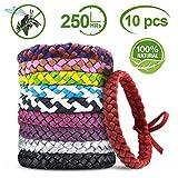 YQHbe Bracelet Anti Moustique, RéPulsifs Anti-Moustiques Bracelet 100% Naturel pour Adultes Et Enfants,BéBé Anti...