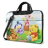 Lsjuee 15,6 Pulgadas Bolsa para portátil Baby Winnie The Pooh maletín para portátil Bandolera Bandolera Funda
