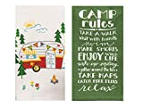 18th Street Gifts Camper Decor 2 Piece Towel Set, Home is Where We Park It Camping Towel and Camp Rules Towel