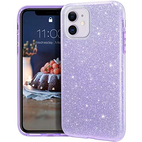 MATEPROX Funda iPhone 11,Glitter Estuche Brillante...