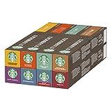Starbucks Nespresso Variety Pack, 8 Goûts différents, 80 capsules (8 x 10...