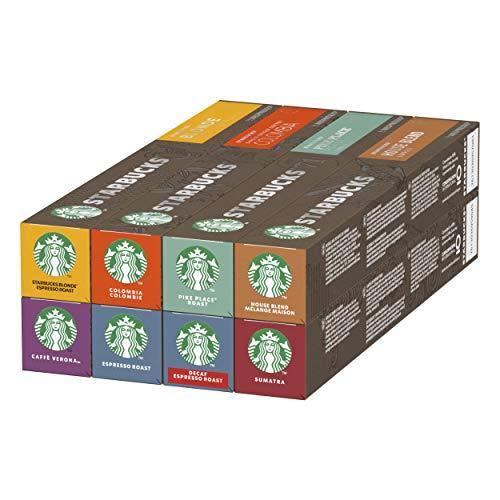 STARBUCKS Variety Pack de Nespresso Cápsulas de Café 8 x T