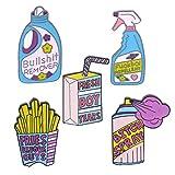 Paquete de 5 bonitos pines de solapa esmaltados, broches de dibujos animados, insignias para ropa, bolsos, mochilas, chaquetas, sombreros, bricolaje