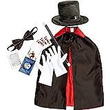 Blue Panda Kid's Magician Costume Accessories Kit (7 Piece Set)