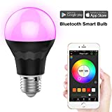 MagicLight Plus Bluetooth Smart Light Bulb, A19 E27 60W Equivalent Dimmable Multicolored Smartphone App Controlled Xmas Seasonal Celebration Lighting