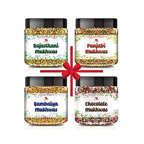 Nature Purify- Mouth Freshener Combo Rajasthani,Punjabi,Bambaiya & Chocolate Mukhwas (400g*4) 1.6kg