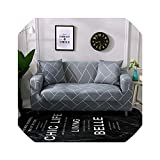 Gray Sofa Cover Stretch Furniture Covers Elastic Sofa Covers for Living Room Slipcover Sofa seat Cover Couch 1-4 Seater,Color 15,1-Seater 90-140cm