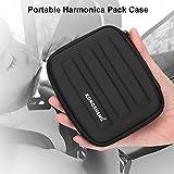 Tbest Harmonica Housse étui de Rangement, Portable Harmonica Pack Case...